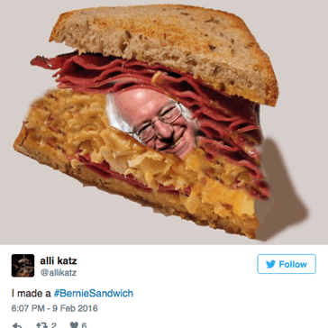 Thanks to One News Anchor's Sanders/Sandwich Flub, We're All Feeling the Heartbern