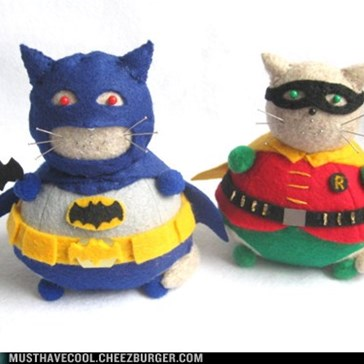 Holy Cat Pin Cushions, Batman!