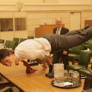 Canadian Prime Minister Justin Trudeau's Yoga Pose Looked Even More Awesome Once the Internet Had a Photoshop Battle With It
