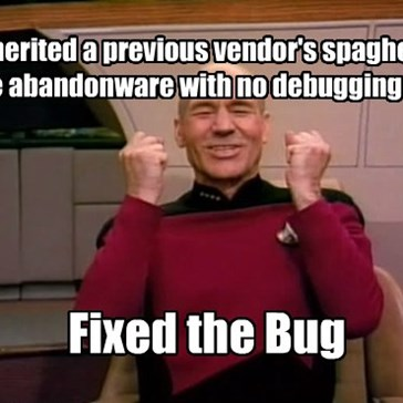 Inherited a previous vendor's spaghetti-code abandonware with no debugging tools