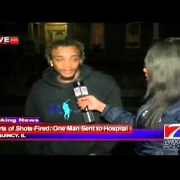 Guy Giving a News Interview After Getting Shot is Definitely Living the Thug Life
