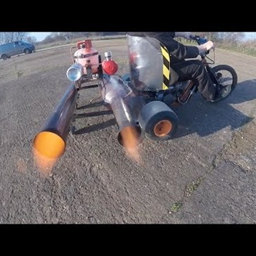 Strapping a Pulse Jet to a Drift Trike is Equal Parts Dangerous and Fun
