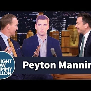 Peyton Manning Does What Every Sibling Does Mocks Eli Manning's Dumbfounded Expression