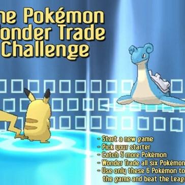 The Pokémon Wonder Trade Challenge