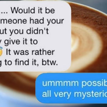 Coffee Shop Creeper Texts Barely Legal Barista and It's an Awkward Exchange