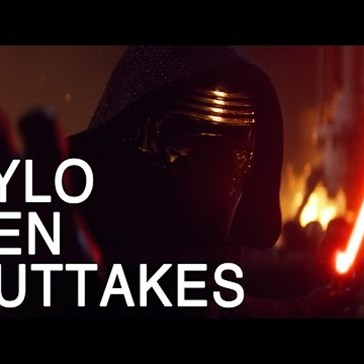 Kylo Ren Has a Hard Time Acting Cool in These Star Wars Outtakes