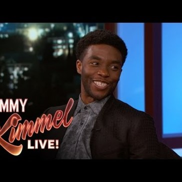 Chadwick Boseman Sits Down With Jimmy Kimmel to Chat About Playing Black Panther