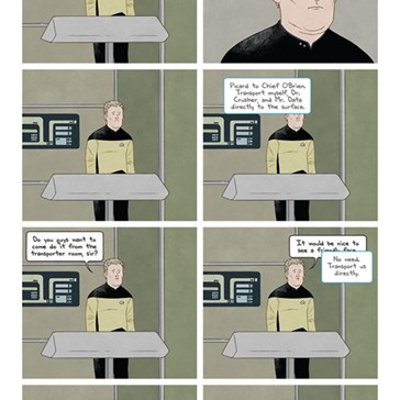 Chief O'Brien At Work