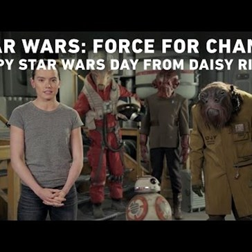 Daisy Ridley Wishes Fans a Happy Star Wars Day With the Help of Some Alien Friends