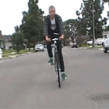 Wait, That's Not How You Stay on a Bike
