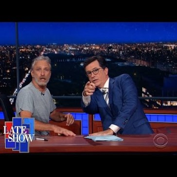 Jon Stewart Returns to Late Night TV to Talk About the RNC and Donald Trump