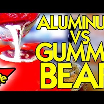 Watch What Happens When You Pour Molten Aluminum Onto the World's Largest Gummy Bear?