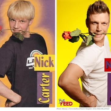 Nick Carter and Jordan Knight Recreate Their Absurd Teen Magazine Photos