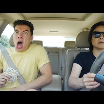 Son Puts His Life Into Lip Syncing While Mom Casually Cruises Like It's No Big Deal