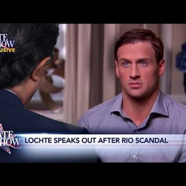 "Stephen Colbert's Exclusive ""Interview"" Ryan Lochte is Classic Spot-On Colbert"