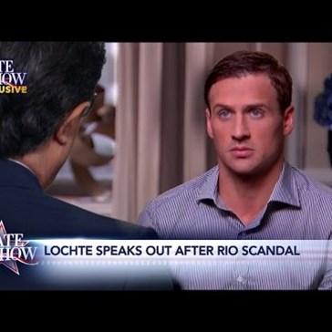 """Stephen Colbert's Exclusive Ryan Lochte """"Interview"""" is Classic Spot-On Colbert"""