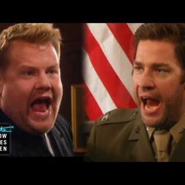 John Krasinski & James Corden Make a Terrible Acting Duo