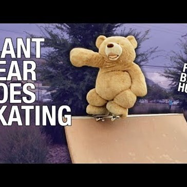 Why Not Watch This Guy Dress Up as a Giant Teddy Bear and Offer People Free Hugs?