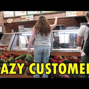 Watch This Crazy Woman Lose Herself in a Fit of Blind and Senseless Rage When Subway Doesn't Have the Meatball Sub