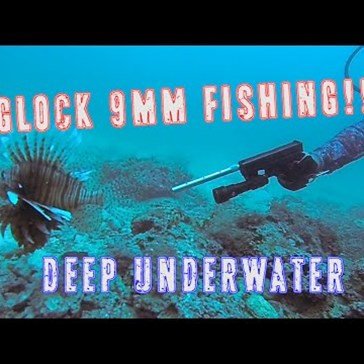 Fishing With A Glock 9mm Handgun Underwater is Almost Literally 'Shooting Fish a Barrel'