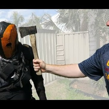 This Dude Made a Deathstroke Helmet Strong Enough to Take an Axe Hit