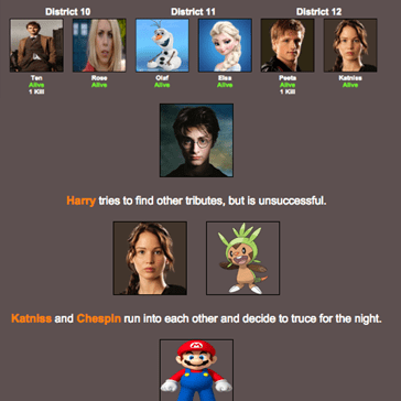 Create Your Own Ultimate Hunger Games