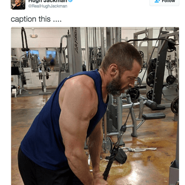 Hugh Jackman Asked His Fans to Caption a Picture of Him Training for Old Man Logan Role, and the Responses Are Amazing