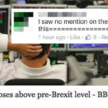 BBC Facebook Burns Commenter For Questioning Validity of News Story