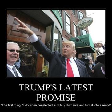 TRUMP'S LATEST PROMISE