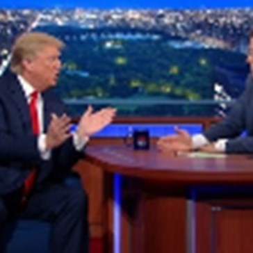 Trump of the Day: Donald and Stephen Colbert Square Off in a Late Night Interview