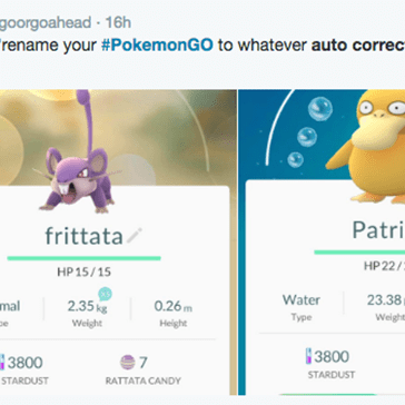 Pokémon GO Players Are Letting Autocorrect Name Their Pokemon