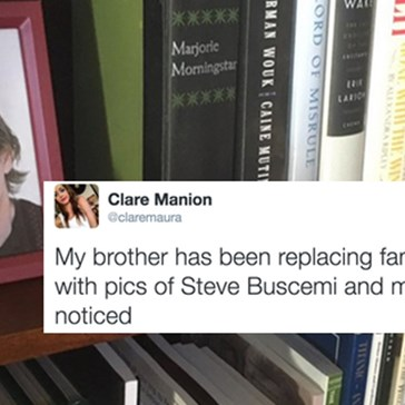 Son Secretly Replaced Photos in the House With Steve Buscemi and Mom Has Yet to Notice