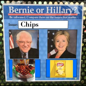 Bernie vs Hillary: Chips?