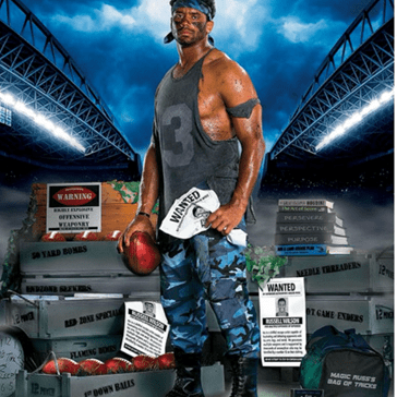 The Internet's Ripping Russell Wilson a New One After He Posted This Ridiculous Rambo-Inspired Poster