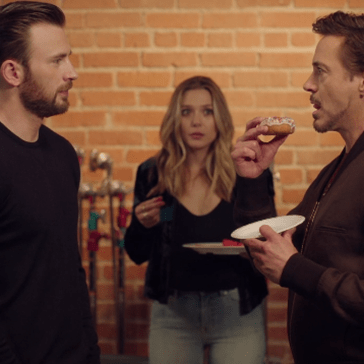 Captain America and Ironman Go Toe to Toe Over the Last Donut, While Scarlet Witch Loses Her Sh*T