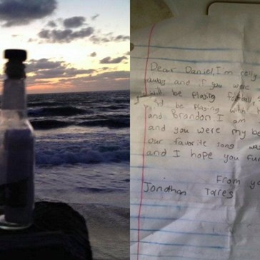 A Man Found a Message in a Bottle From a Fifth Grader That Will Break Your Heart