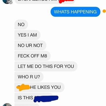 """Things Get Awkward When a Facebook Account Is Compromised and One """"Friend"""" Tries Asking His Friend's Crush out"""