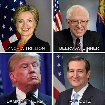 US Election 2016 in Anagrams