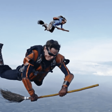 This Video of People Playing Quidditch While Skydiving Is Easily the Most Magical Thing You'll See All Day