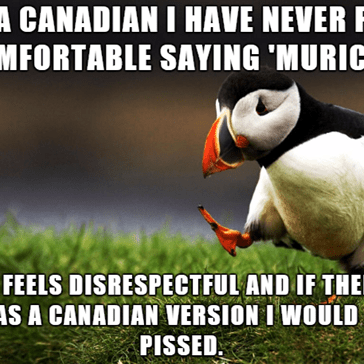 Canadia don't count.