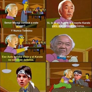 El entrenamiento del señor Miyagi