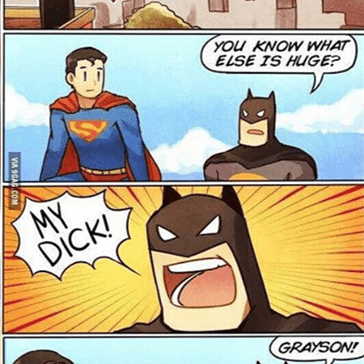 Ah, Bruce Wayne Is Such a Jokester!