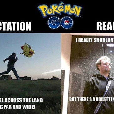 Pokémon GO Expectation v. Reality
