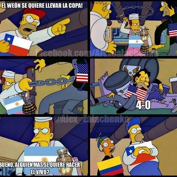 Y en estos momentos en la Copa América...