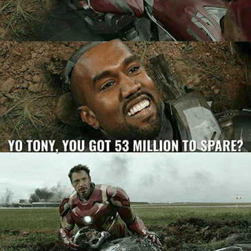 That One Time Kanye Tried to Borrow Money from Tony Stark