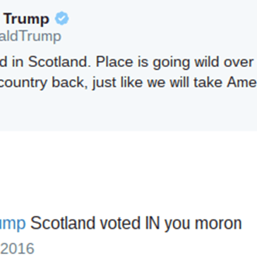 Donald Trump Got Immediately Called out on His Clueless Tweet About Brexit