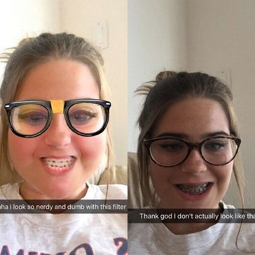 "This ""Nerdy"" Snapchat Filter Is Disappointingly Accurate for These Teens"