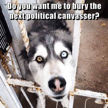 Do you want me to bury the next political canvasser?