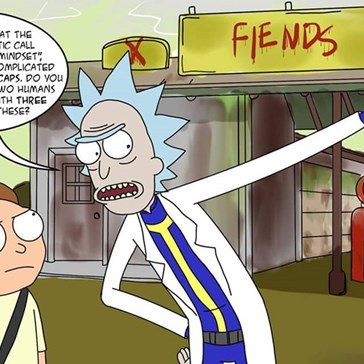 Would Lose My Freaking Mind If I Found a Rick and Morty Easter Egg in Fallout
