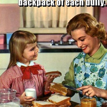 All you need to do is put one sandwich into the backpack of each bully.   Anaphylaxis will do the rest